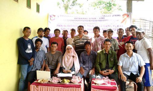 Dr. Ir. Hj. ST. Hadijah MP dan Ir. H. Bakhtiar Ibrahim, MP memberikan Pelatihan Cara Budidaya Ikan yang Baik (CBIB) di Desa Tanabangka