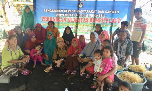 Dosen FPIK UMI Latih Petani Rumput Laut di Kab Takalar