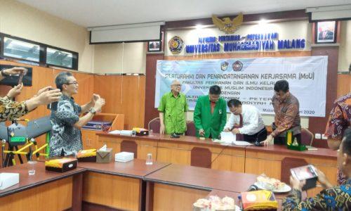 Silaturahmi dan Penandatanganan Kerjasama (MOu) Fakultas Perikanan dan Ilmu Kelautan UMI dengan Fakultas Pertanian – Peternakan UMM